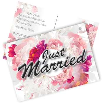 "20 Flugkarten "" Just Married "" Blumen"