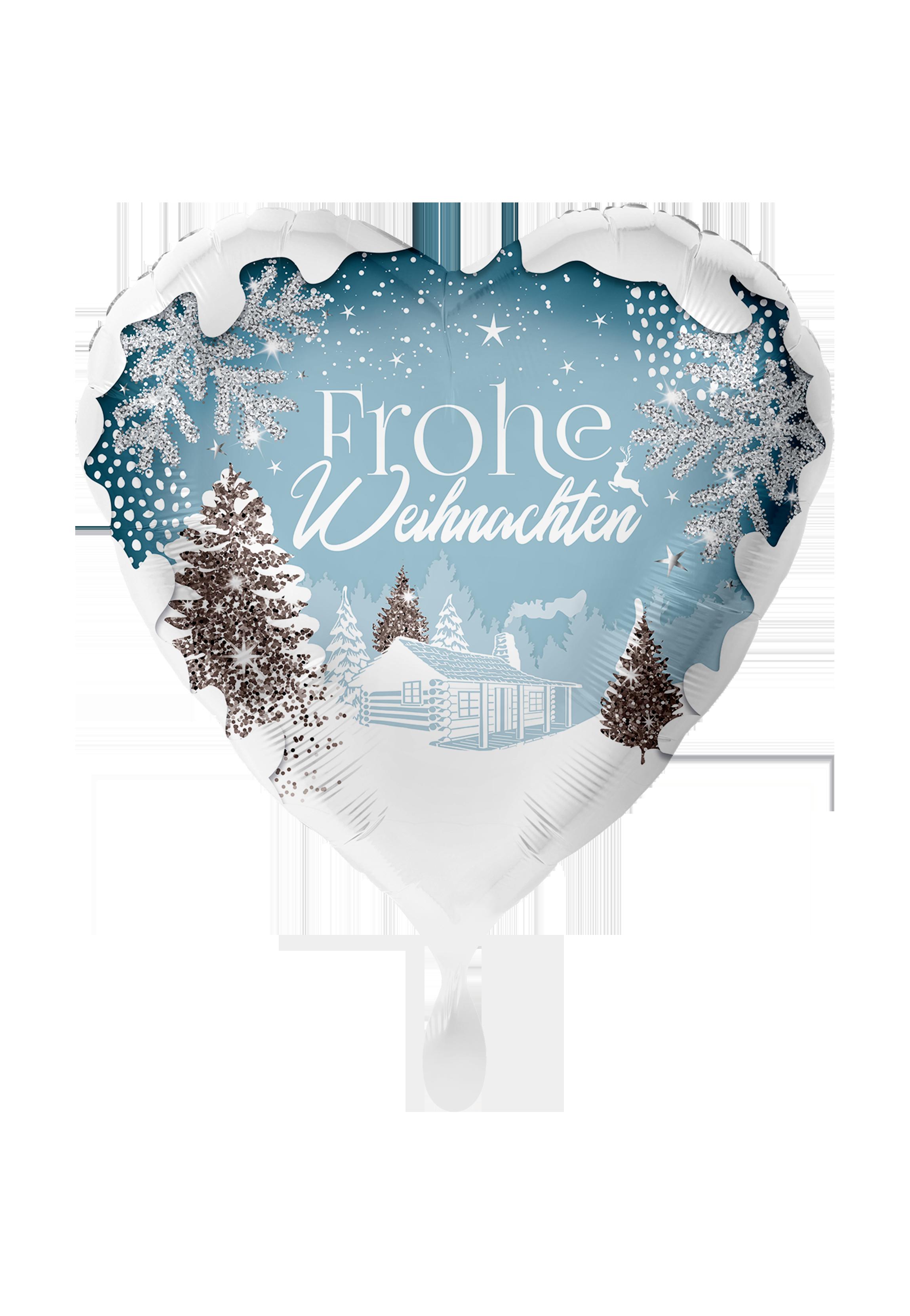 Frohe Weihnachten Herz.Folienballon 71cm Herz Frohe Weihnachten